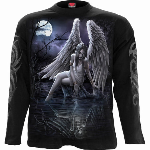 Image of INNER SORROW - Longsleeve T-Shirt Black - Spiral USA