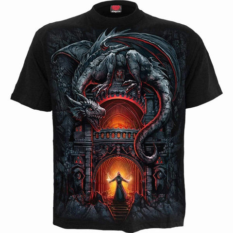 Image of DRAGON'S LAIR - T-Shirt Black - Spiral USA