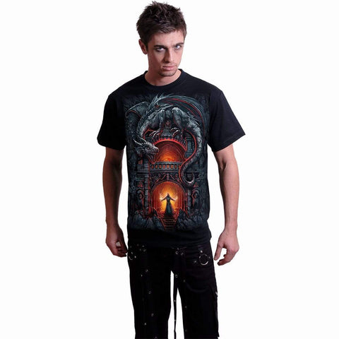 DRAGON'S LAIR - T-Shirt Black - Spiral USA