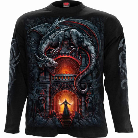 DRAGON'S LAIR - Longsleeve T-Shirt Black - Spiral USA