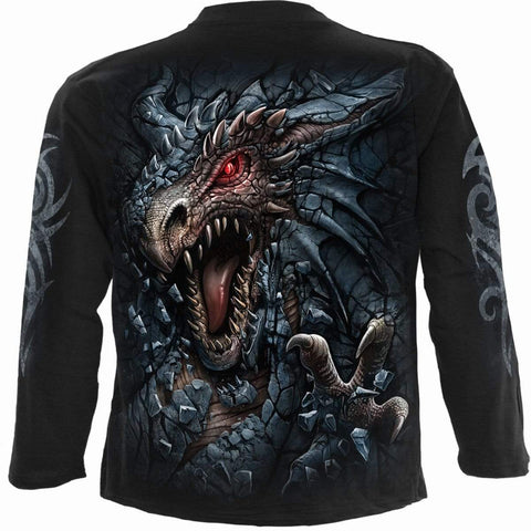 Image of DRAGON'S LAIR - Longsleeve T-Shirt Black - Spiral USA