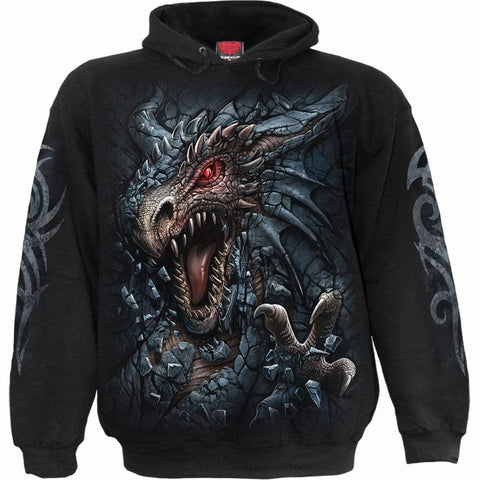 DRAGON'S LAIR - Hoody Black - Spiral USA