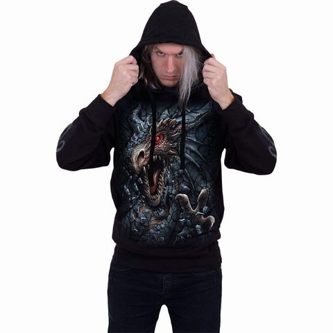 Image of DRAGON'S LAIR - Hoody Black - Spiral USA