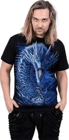 Image of ICE DRAGON - T-Shirt Black - Spiral USA