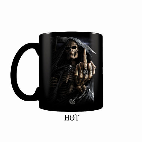 BONE FINGER - Heat Change Ceramic Coffee Mug - Gift Boxed - Spiral USA