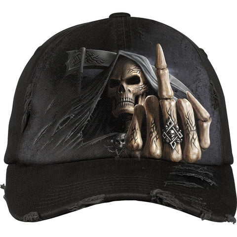 BONE FINGER - Baseball Caps Distressed with Metal Clasp - Spiral USA