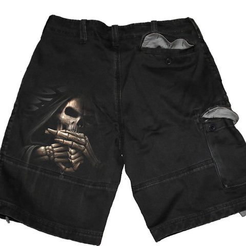 BONE FINGER - Vintage Cargo Shorts Black