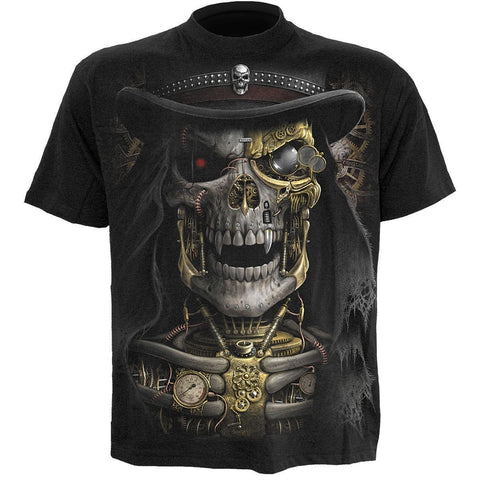 Image of STEAM PUNK REAPER - T-Shirt Black - Spiral USA