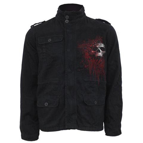 DEATH BLOOD - Military Lined Jacket with Hidden Hood - Spiral USA