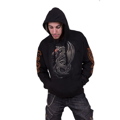 DRAGON SLAYER - Hoody Black - Spiral USA