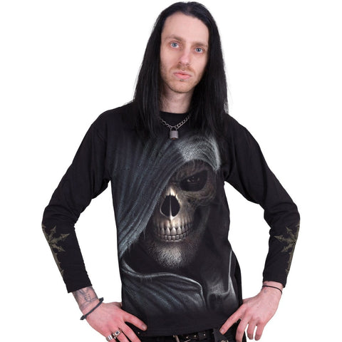 Image of DARKNESS - Longsleeve T-Shirt Black - Spiral USA