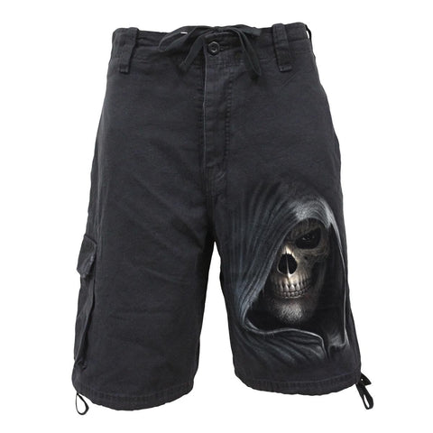 Image of DARKNESS - Vintage Cargo Shorts Black - Spiral USA