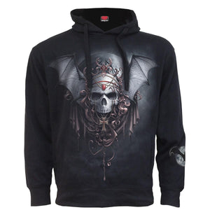 GOTH NIGHTS - Side Pocket Stitched Hoody Black