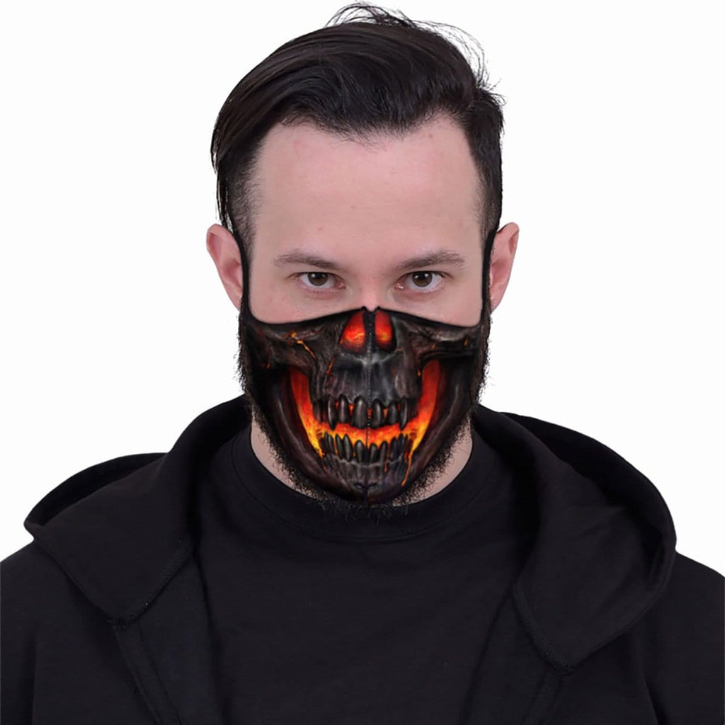 SKULL LAVA - Face Mask - Spiral USA