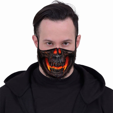 Image of SKULL LAVA - Face Mask - Spiral USA