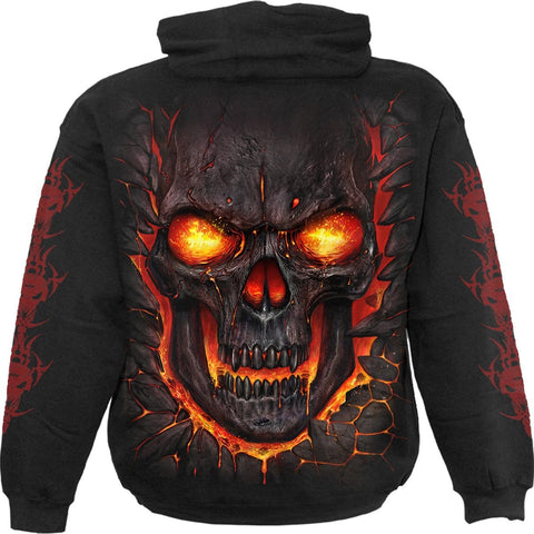 Image of SKULL LAVA - Kids Hoody Black - Spiral USA
