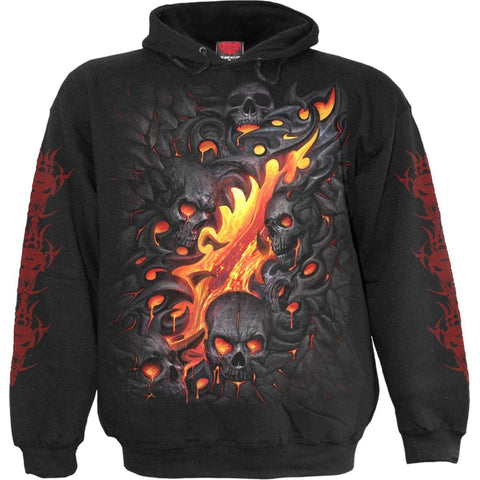 Image of SKULL LAVA - Hoody Black - Spiral USA