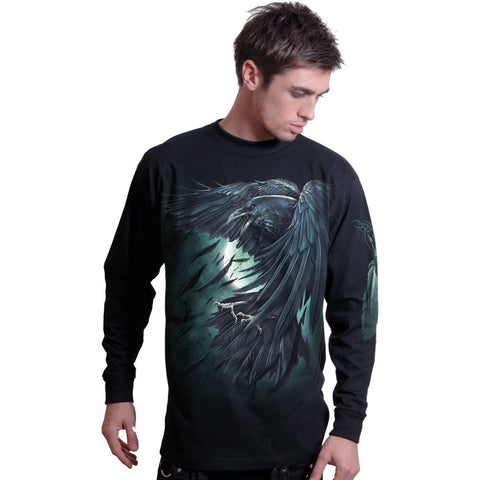 Image of SHADOW RAVEN - Longsleeve T-Shirt Black - Spiral USA