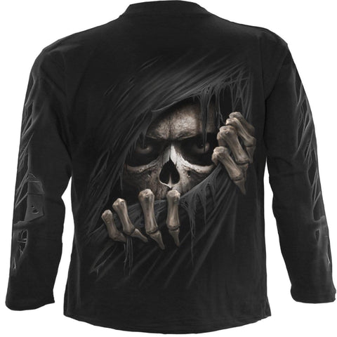 Image of GRIM RIPPER - Longsleeve T-Shirt Black - Spiral USA