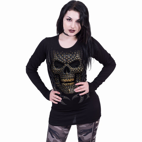 Image of BLACK GOLD - Baggy Top Black - Spiral USA