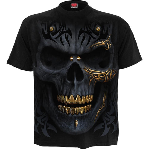 Image of BLACK GOLD - T-Shirt Black - Spiral USA