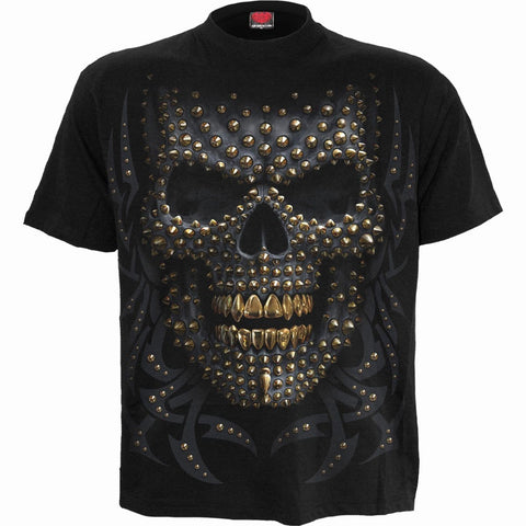 BLACK GOLD - Front Print T-Shirt Black - Spiral USA