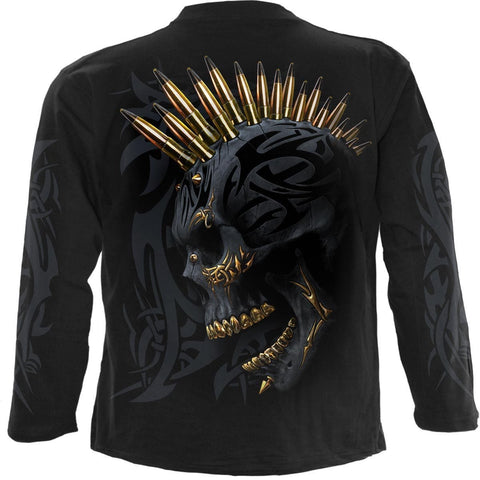 Image of BLACK GOLD - Longsleeve T-Shirt Black - Spiral USA