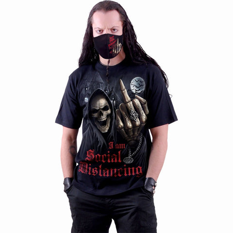 Image of SOCIAL DISTANCE - T-Shirt Black