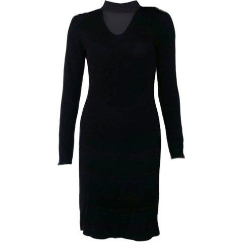 GOTHIC ELEGANCE - Neck Band Elegant Dress - Spiral USA