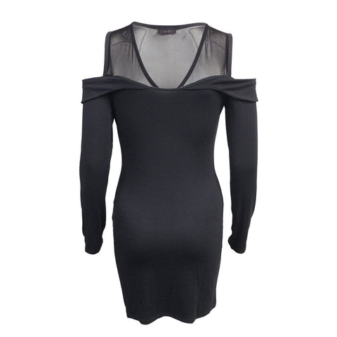 GOTHIC ELEGANCE - 2in1 Fine Mesh Shoulder Dress - Spiral USA
