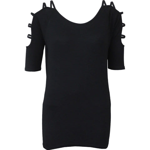 GOTHIC ELEGANCE - Ladder - Strap Shoulder Top - Spiral USA