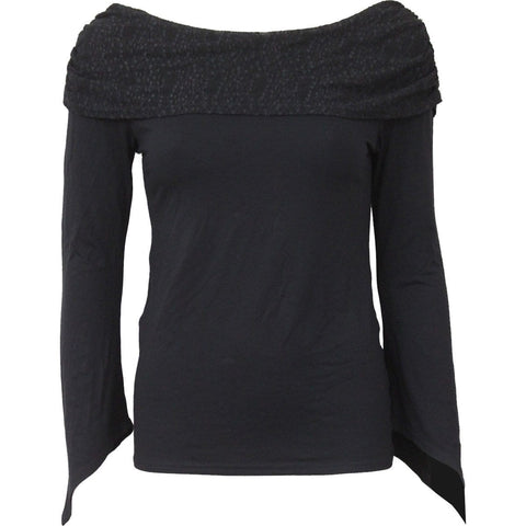 Image of GOTHIC ELEGANCE - Goth Sleeve Textured Bolero Top - Spiral USA