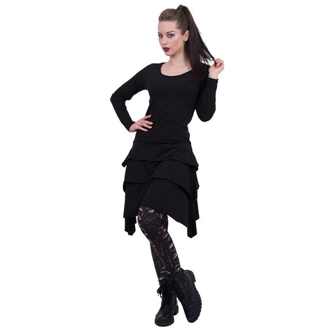 GOTHIC ROCK - Layered Skirt Dress - Spiral USA