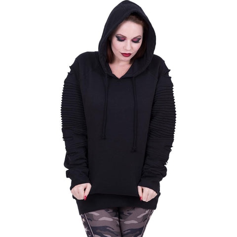 Image of GOTHIC ROCK - Premuim Biker Fashion Ladies Hoodie - Spiral USA