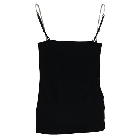 Image of GOTHIC ROCK - Adjustable Chain Camisole Top Black - Spiral USA