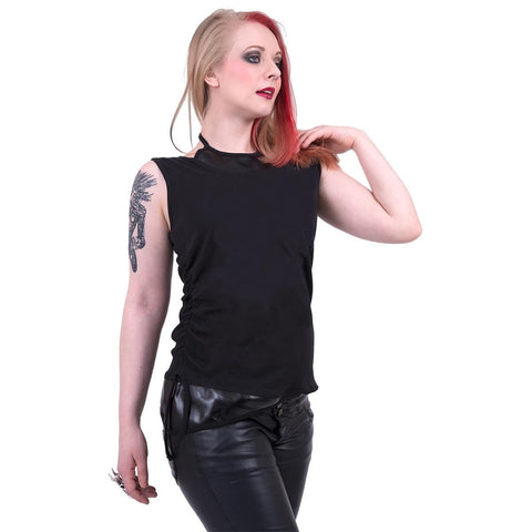 Image of GOTHIC ROCK - 2in1 PU Leather Vest - Spiral USA