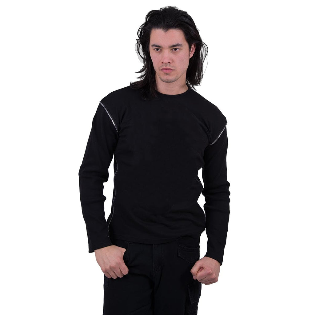 GOTHIC ROCK - Zip Side Ribbed Gothic Longsleeve - Spiral USA
