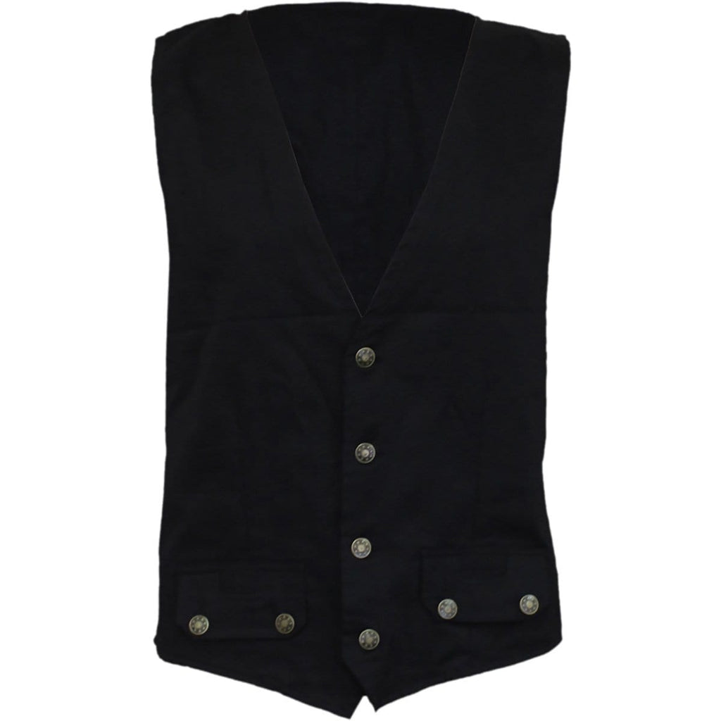 GOTHIC ROCK - Gothic Waistcoat Four Button with Lining - Spiral USA