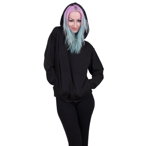 Image of METAL STREETWEAR - Street Ribbed Large Hood Hoodie  Black
