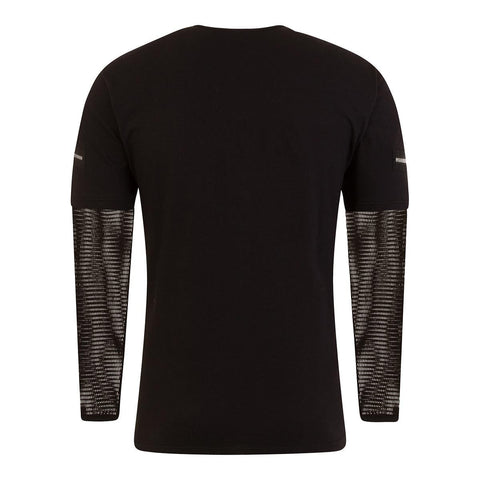 Image of METAL STREETWEAR - Mesh Sleeve Zip Shoulder Long Sleeve Mens - Spiral USA