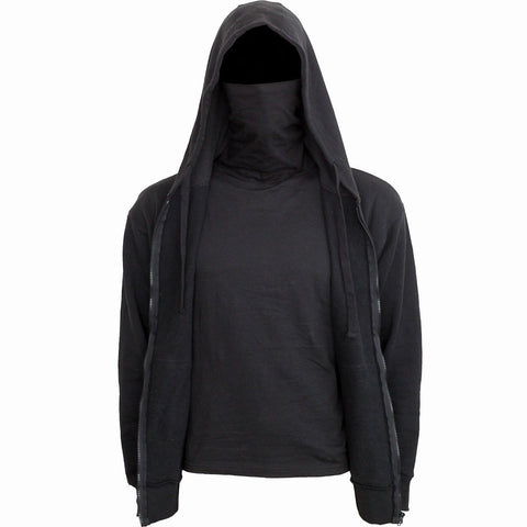 METAL STREETWEAR - 2in1 Full Zip Mask Hoodie - Spiral USA