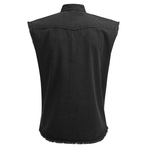 Image of METAL STREETWEAR - Sleeveless Stone Washed Worker Black