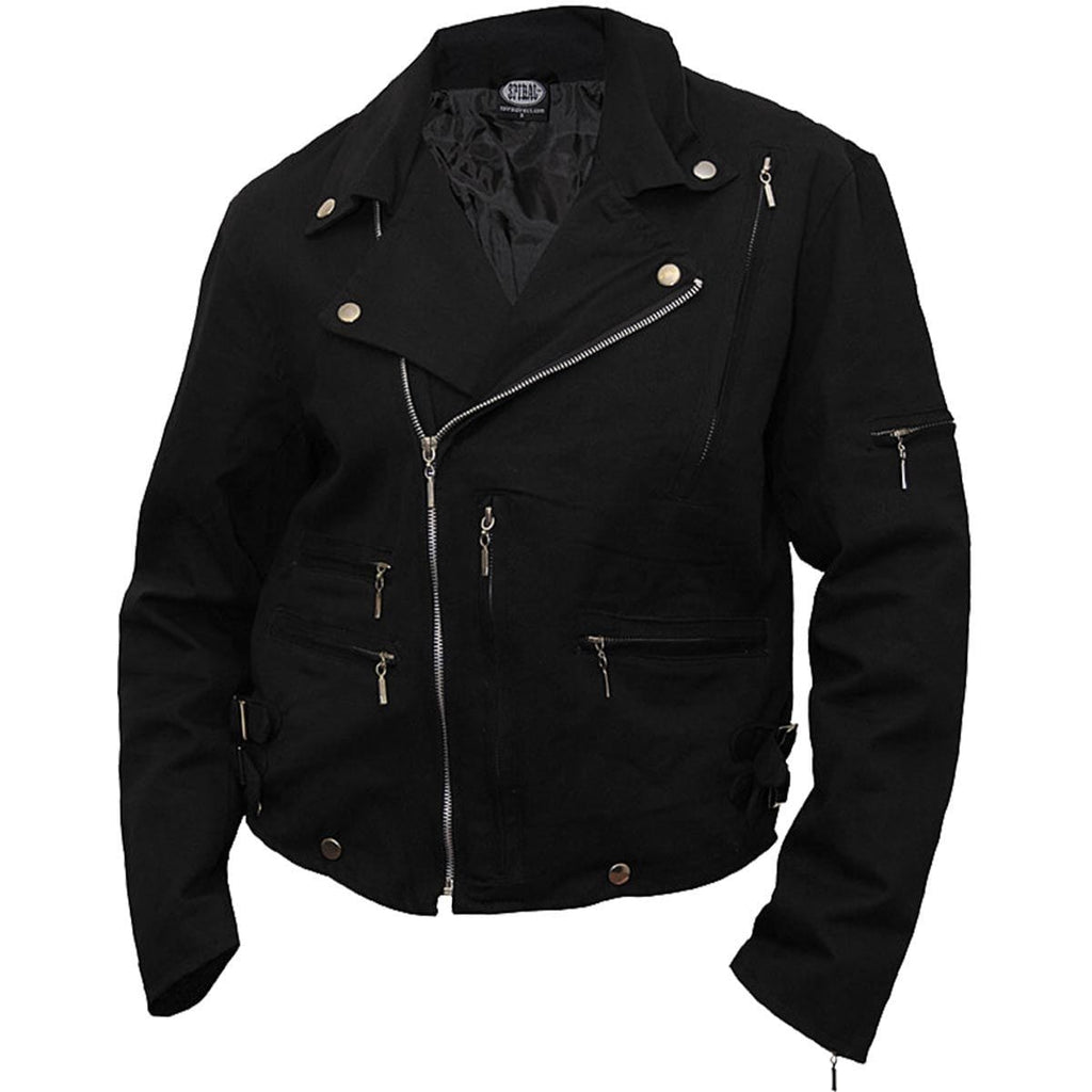 METAL STREETWEAR - Lined Biker Jacket Black - Spiral USA