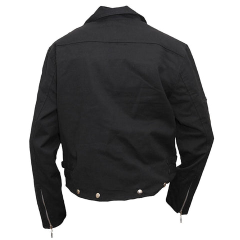 Image of METAL STREETWEAR - Lined Biker Jacket Black - Spiral USA