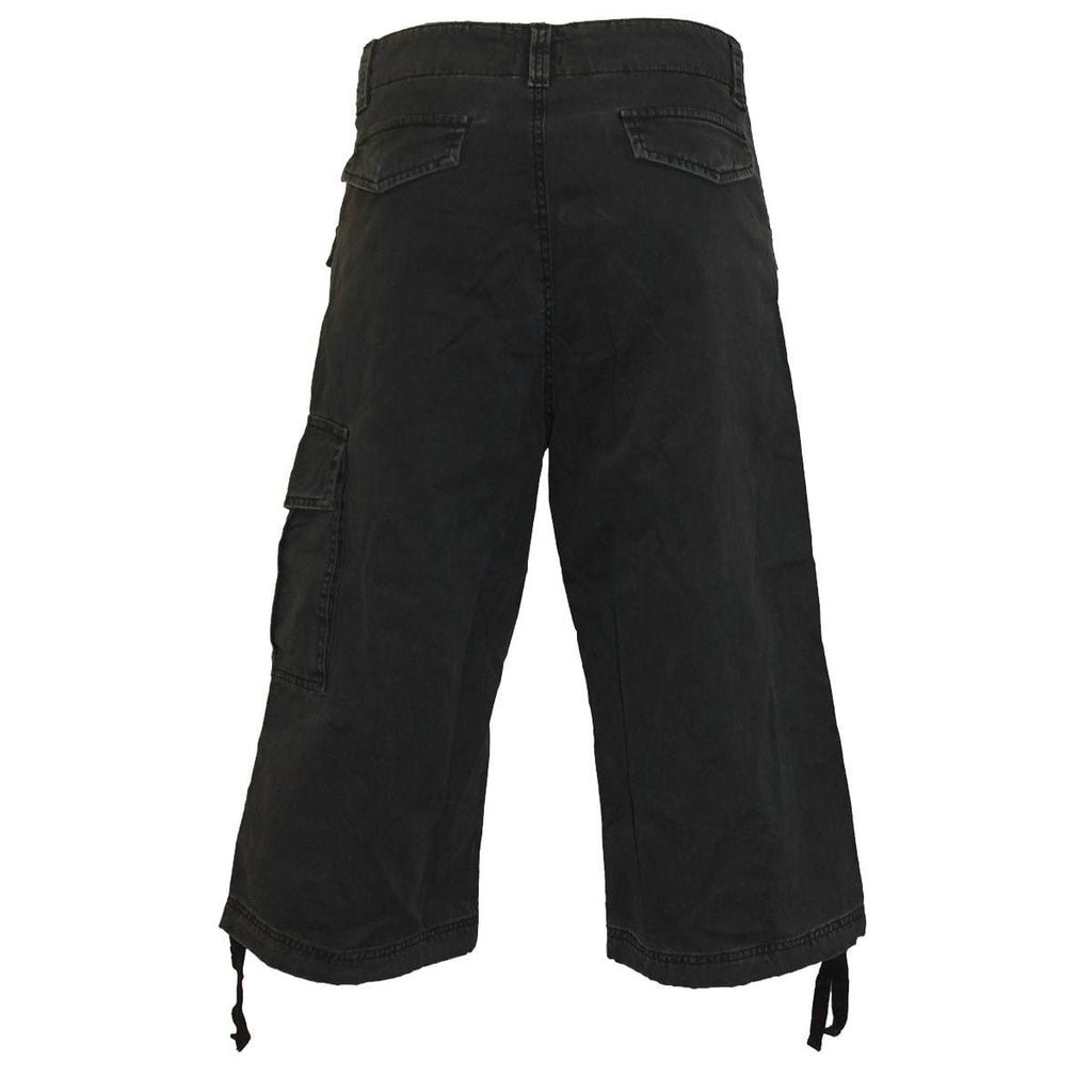 METAL STREETWEAR - Vintage Cargo Shorts 3/4 Long Black - Spiral USA