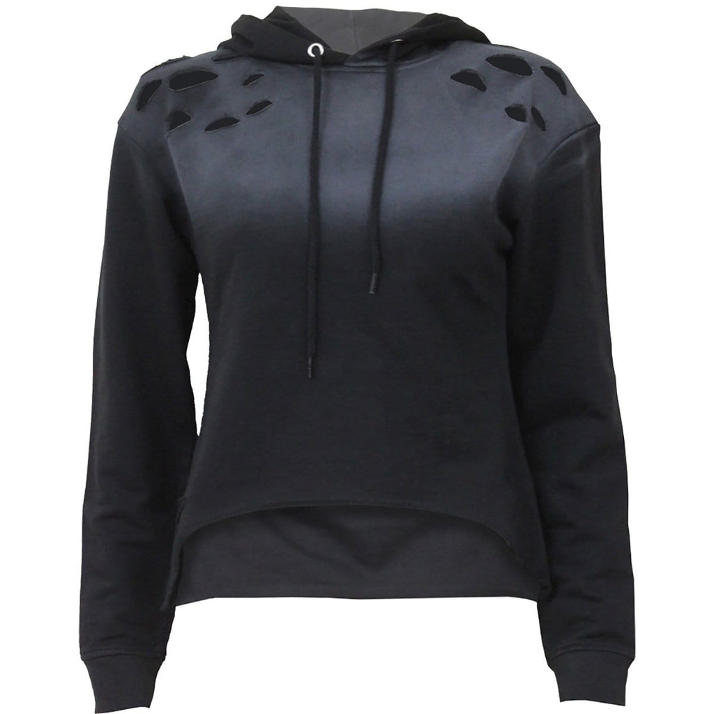 URBAN FASHION - Distressed Spray On Ladies Hoody - Spiral USA