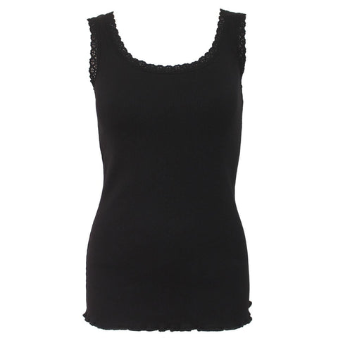 Image of URBAN FASHION - Crochet Collar Ribbed Vest - Spiral USA