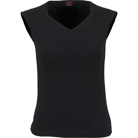 URBAN FASHION - Hex-neck Sleeveless Top - Spiral USA