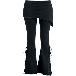 URBAN FASHION - 2in1 Boot-Cut Leggings with Micro Slant Skirt