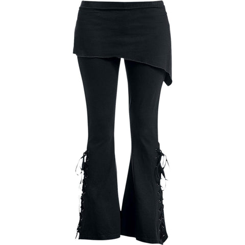 Image of URBAN FASHION - 2in1 Boot-Cut Leggings with Micro Slant Skirt